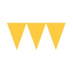 Wimpelkette gelb, 1 Stk.