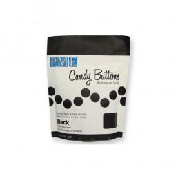 Candy Buttons schwarz, 24 Stk.