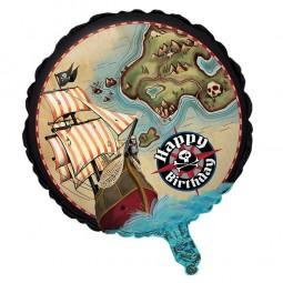 Folienballon Piratenschatz, 1 Stk.