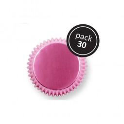 Muffinförmchen metallic pink, 30 Stk.