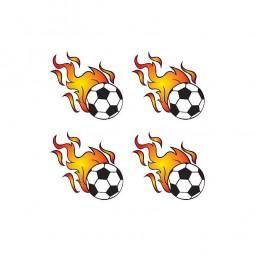 Tattoo Sticker Fussball, 4 Stk.