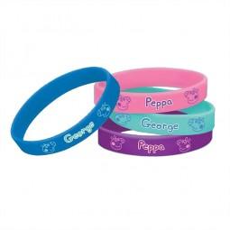 Armbänder Peppa Pig, 4 Stk.