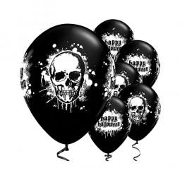 Ballons Totenkopf Halloween, 6 Stk.