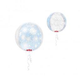 Folienballon Schneeflocken, 1 Stk.
