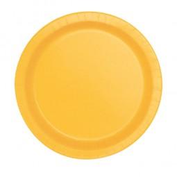 Partyteller Kindergeburtstag gelb, 8 Stk.