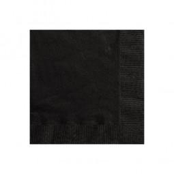 Servietten Kindergeburtstag schwarz, 20 Stk.