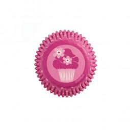 Mini-Muffinförmchen pink Cupcake, 100 Stk.