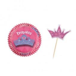 Kindergeburtstag Kombiset für Cupcakes. Prinzessin