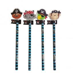 Bleistift mit Radierer Piratenbande, 1 Stk.