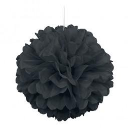 Pompom schwarz, 1 Stk.