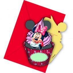 Einladung Minnie Maus Café, 6 Stk.