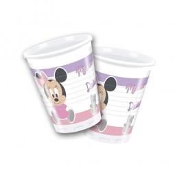"""Becher 1. Geburtstag """"Baby Minnie Maus und Freunde"""", 8 Stk."""