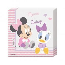 """Servietten 1. Geburtstag """"Baby Minnie Maus und Freunde"""", 20 Stk."""