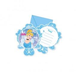 Einladungen Cinderella Fairytale, 6 Stk.