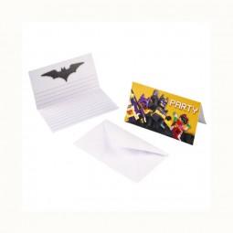 Einladungen LEGO Batman, 8 Stk.