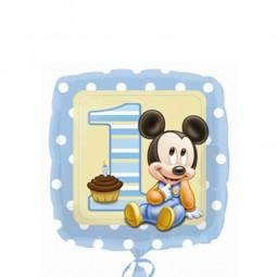 Folienballon 1. Geburtstag Baby Micky Maus, 1 Stk.
