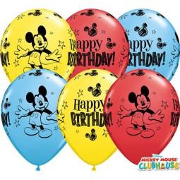 Ballons Micky Maus Happy Birthday, 25 Stk.