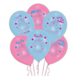Luftballons Peppa Pig, 6 Stk.