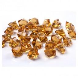 Dekokristall Acryl goldgelb, 50 Stk.