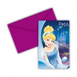 Einladung Cinderella, 6 Stk.