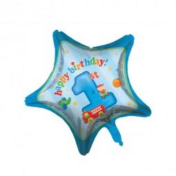 Folienballon 1. Geburtstag Jungen, 1 Stk.