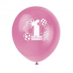 Luftballons 1. Geburtstag, 8 Stk.