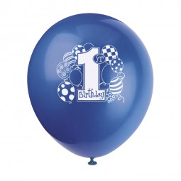 Luftballons 1. Geburtstag Ballons blau, 8 Stk.