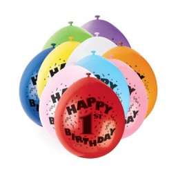 Luftballons 1. Geburtstag, 10 Stk.