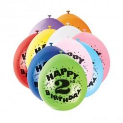 Luftballons 2. Geburtstag, 10 Stk.
