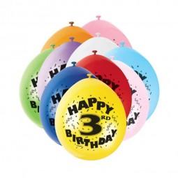 Luftballons 3. Geburtstag, 10 Stk.
