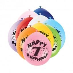 Luftballons 7. Geburtstag, 10 Stk.