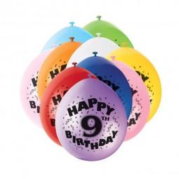 Luftballons 9. Geburtstag, 10 Stk.