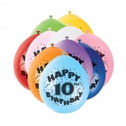 Luftballons 10. Geburtstag, 10 Stk.