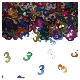 Tischkonfetti Zahl 3, 15 g