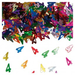 Tischkonfetti Zahl 4,15 g