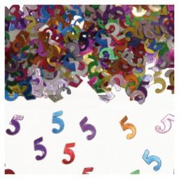 Tischkonfetti Zahl 5, 15 g