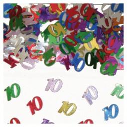 Tischkonfetti Zahl 10, 15 g