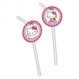Trinkhalme Hello Kitty, 6 Stk.