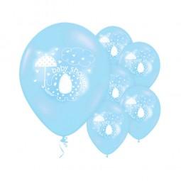 Ballons Babyfant blau, 8 Stk.