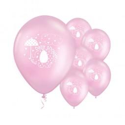 Ballons Babyfant rosa, 8 Stk.