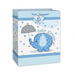 Geschenktasche Babyfant blau, 1 Stk.