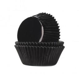 Muffinförmchen Kindergeburtstag schwarz, 24 Stk.