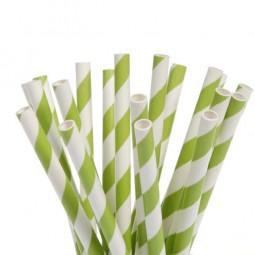 Cake Pop Stiele grüne Streifen, 20 Stk.