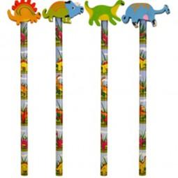 Bleistift mit Radiergummi, Dinosaurier